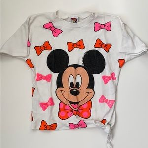 Vintage 80s Mickey Mouse Tie Top Tee